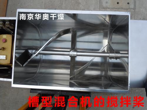 槽型混合机的搅拌结构